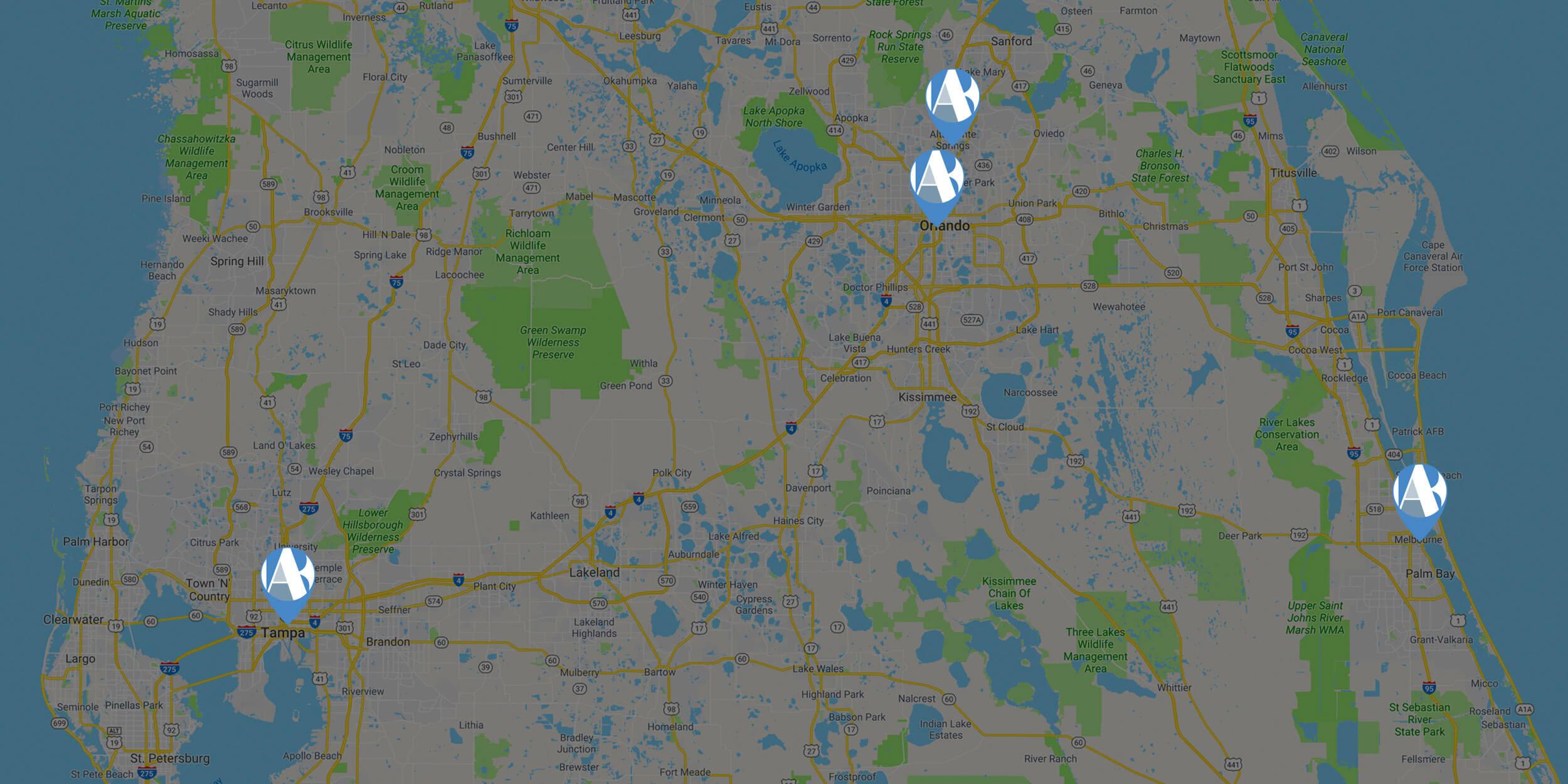 Map of AriasBosinger locations