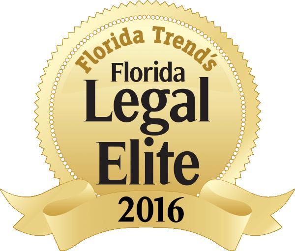 Florida legal elite, gold badge, 2016